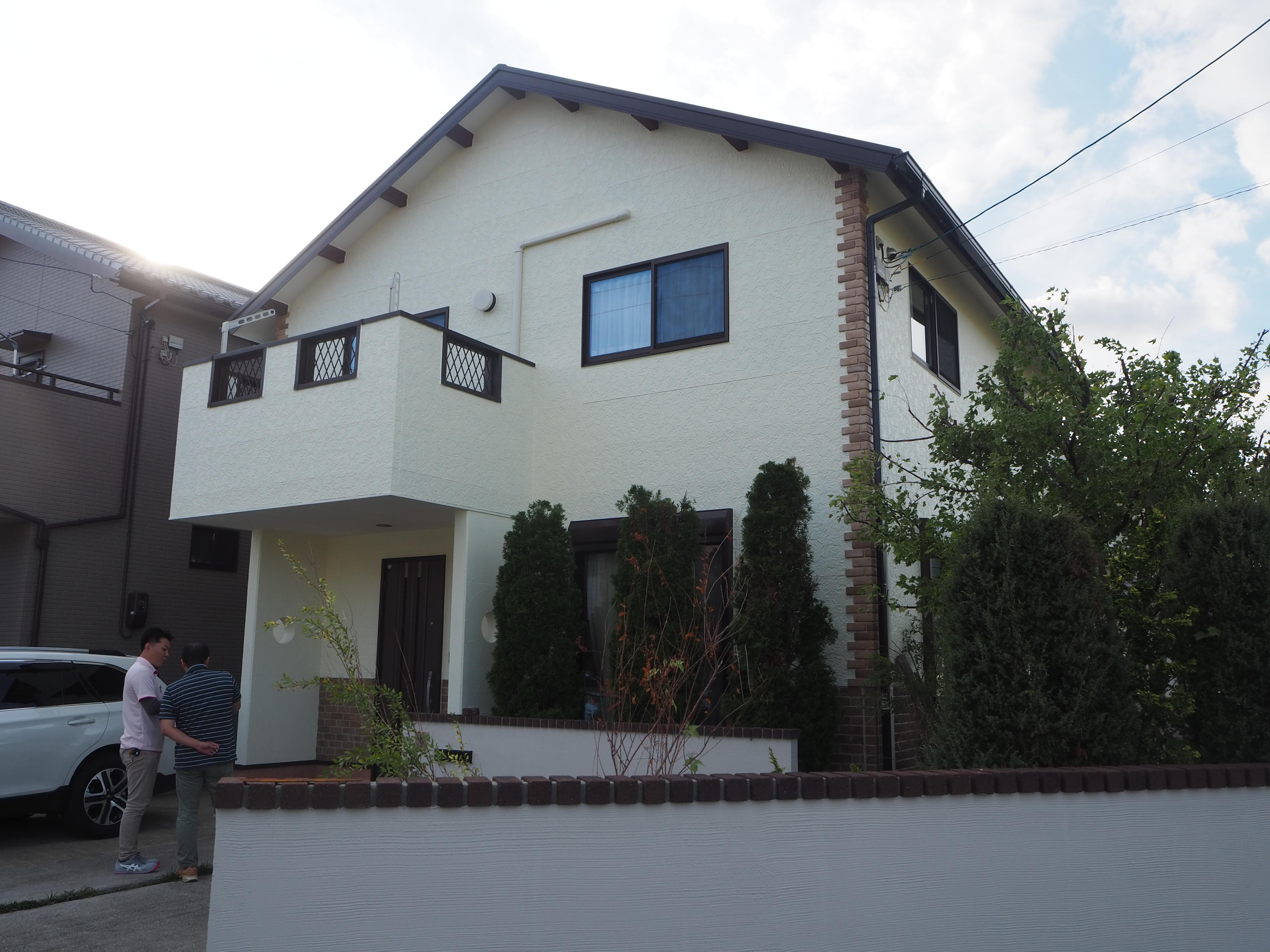 徳島市丈六町 雨漏り 外壁屋根塗替え 施工例
