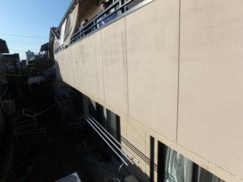 徳島県 北島町 施工前 手すり壁 劣化