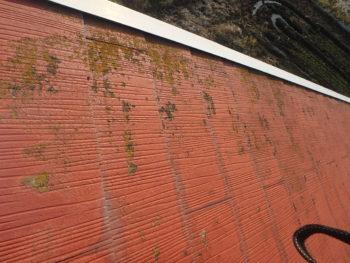 徳島県 阿南市 教会 施工前 屋根 苔
