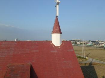 徳島県 阿南市 教会 施工前 屋根 劣化