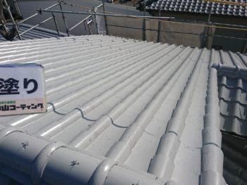徳島県 城南町 屋根 塗装後 下塗り