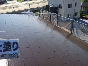 徳島県 中林町 屋根 塗装後 上塗り
