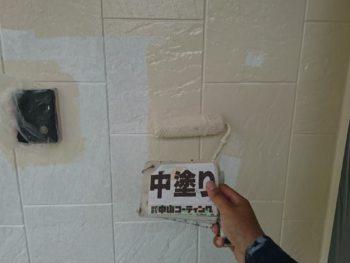 徳島県 中林町 外壁 塗装 中塗り
