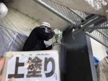 徳島県 鮎喰町 上塗り 外壁 塗装