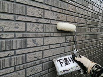 徳島 石井 外壁塗装 下塗り