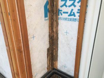 徳島県 上板町 板金工事 壁面 木部 劣化