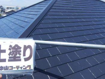 徳島県 南沖洲町 屋根 塗装後 上塗り