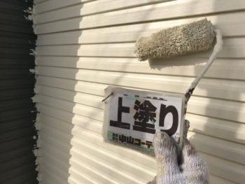 徳島県 阿南市 長生町 外壁塗装 上塗り 2階