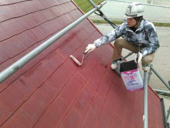 徳島県 阿南市 教会 屋根 塗装 下塗り