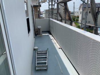 徳島県 松茂町 手すり壁 張り替え 施工後