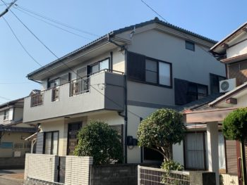 【3色使用し和モダンな外壁塗装】徳島市新浜町 施工例T様