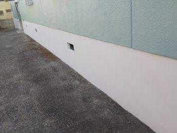 徳島県 南昭和町 施工後 マンション 壁面 立ち上がり