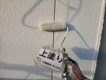 徳島県 藍住町 外壁塗装 上塗り