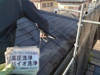 徳島県 藍住町 洗浄 屋根 苔
