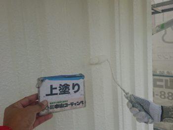 徳島 城南 外壁 塗装 外観 上塗り