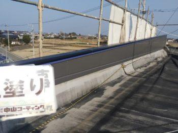 徳島県 阿南市 長生町 外壁塗装 屋上 上塗り