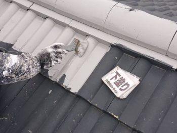 徳島県 北沖洲 屋根塗装 下塗り