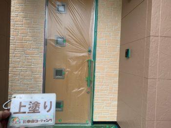 徳島県 小松島市 外壁 塗装 上塗り 2色仕上げ