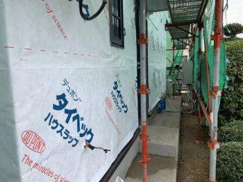 徳島 藍住 外壁 板金工事 防水シート