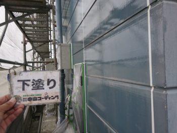 徳島県 阿南市 長生町 外壁塗装 下塗り後