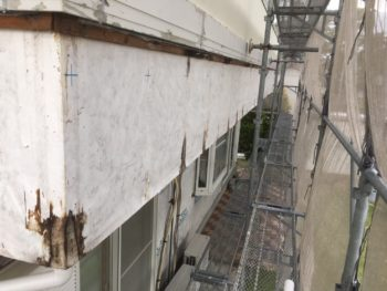 徳島県 上板町 板金工事 手すり壁 胴縁 撤去