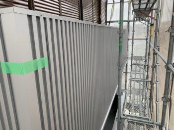 徳島県 末広町 外壁 板金工事 手すり壁 施工後