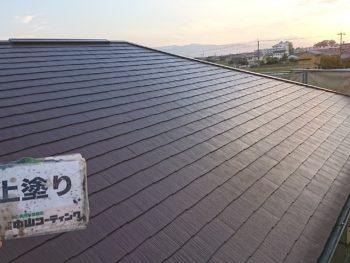 徳島県 上板町 屋根 塗装後 上塗り