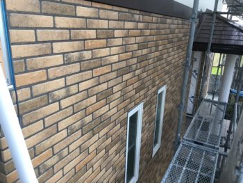 徳島県 上板町 板金工事 壁面 サイディング 貼り付け後
