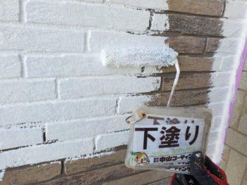 徳島県 城東町 病院 外壁 塗装 下塗り 入口