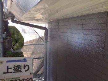 徳島県 松茂町 外壁塗装 上塗り
