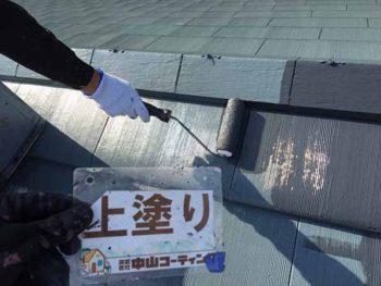 徳島県 撫養町 屋根塗装 上塗り