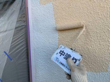 徳島県 板野郡 北島町 外壁 塗装 中塗り