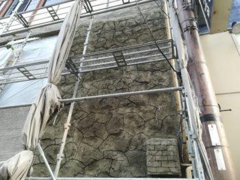 徳島県 徳島市 銀座 モルタル造形 石垣 施工後