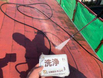 徳島県 大麻町 高圧洗浄 屋根 汚れ