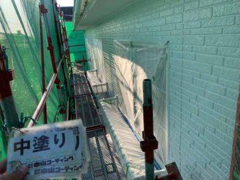 徳島県 大麻町 外壁 塗装 中塗り
