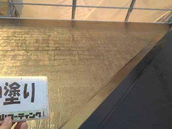 徳島県 大麻町 屋根塗装 中塗り