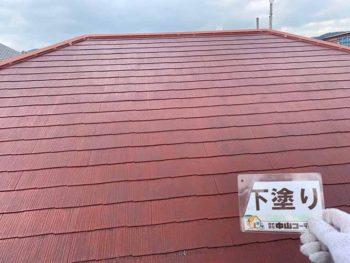 徳島県 大麻町 屋根 塗装 下塗り