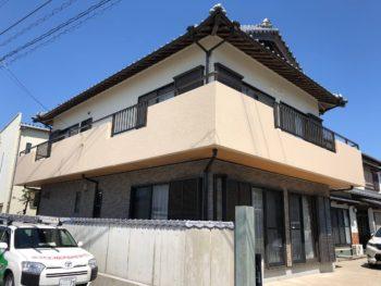 徳島市名東町 和風住宅の外壁塗装 施工事例