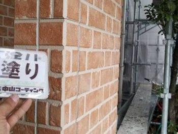 徳島県 藍住町 外壁 塗装後 サイディング 下塗り