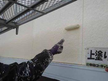 徳島県 大麻町 外壁塗装 2階 上塗り