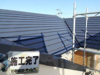徳島県 藍住町 屋根 塗装後 上塗り