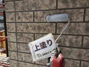 徳島県 北田宮 外壁 塗装 ベランダ 上塗り クリヤー