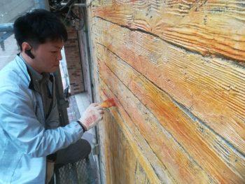 徳島県 徳島市 銀座 壁面塗装 モルタル造形 木部