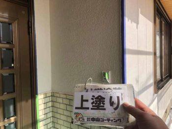 徳島県 羽ノ浦町 外壁塗装 玄関周り 上塗り 塗装後