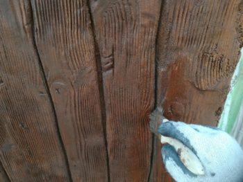 徳島県 徳島市 銀座 壁面塗装 モルタル造形 木部 溝