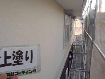 徳島県 大麻町 外壁塗装 2階 上塗り後
