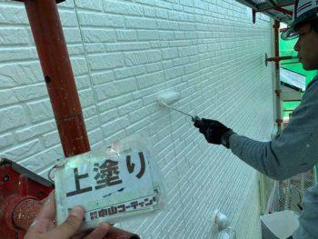 徳島県 大麻町 外壁 塗装 上塗り