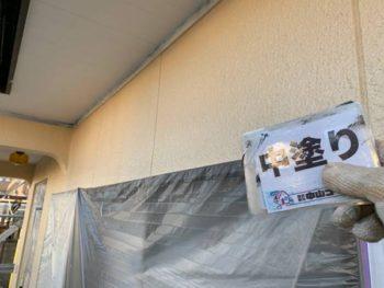 徳島県 板野郡 北島町 外壁 塗装後 中塗り