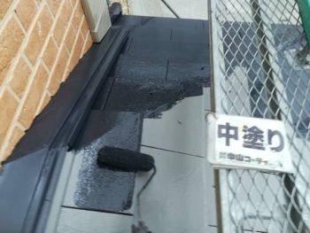 徳島県 藍住町 屋根 塗装 中塗り