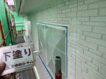 徳島県 大麻町 外壁 塗装 下塗り